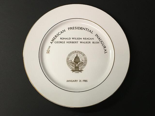 Presidential Inaugural Gifts - 1985 Plate
