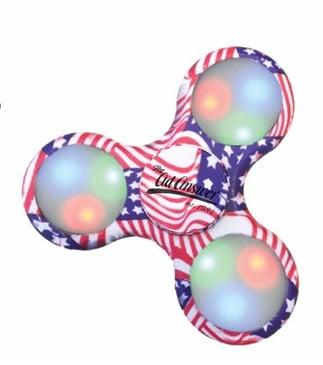 American Flag LED Fidget Spinner